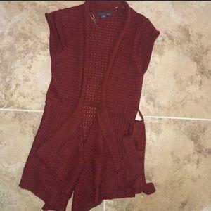 Forever 21 long sweater vest.